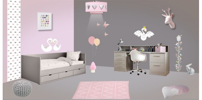 Chambre fille rose - bebe confort axiss